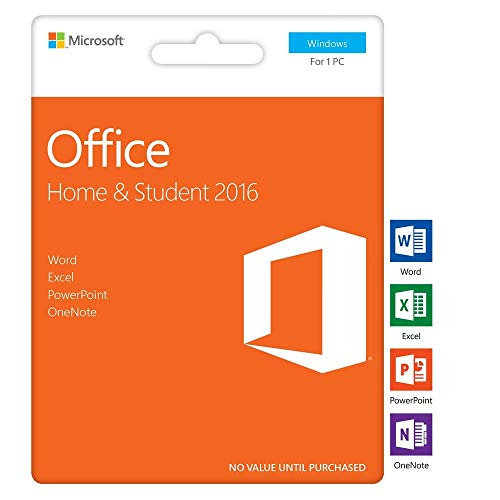 Office Home and Student 2016 |1 PC | Key Card | NEW