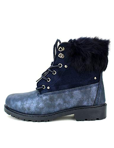 Bleue Bottine Chaussures Cendriyon Femme Bleu Biss TvqnApw