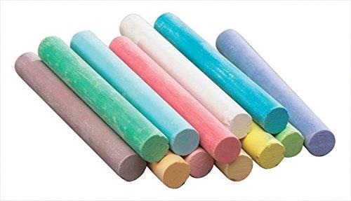 Kedudes Non-Toxic White Dustless Chalk (12 ct box) and Colored Dustless Chalk (12 ct box) Bundle + Premium Chalkboard Eraser