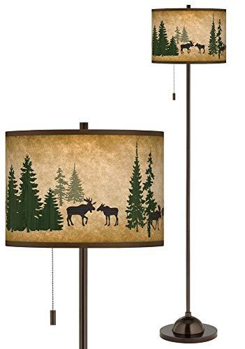 Moose Lodge Giclee Glow Bronze Club Floor Lamp - Giclee Glow ()