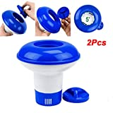 Worglo 2 PC Pool Thermometer Swimming Thermometer Water Thermometer 5 Inch Dosing Float Pool Float for Swimming Pools Spas