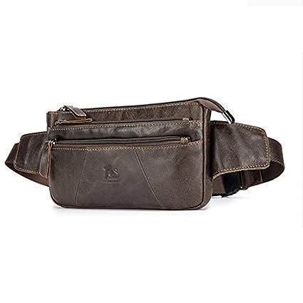 38e536766e8 Amazon.com   Lixing New Men Waist Bag For Phone Genuine Leather ...