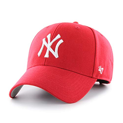(MLB New York Yankees Men's '47 Brand Bullpen MVP Cap, Red, One-Size)
