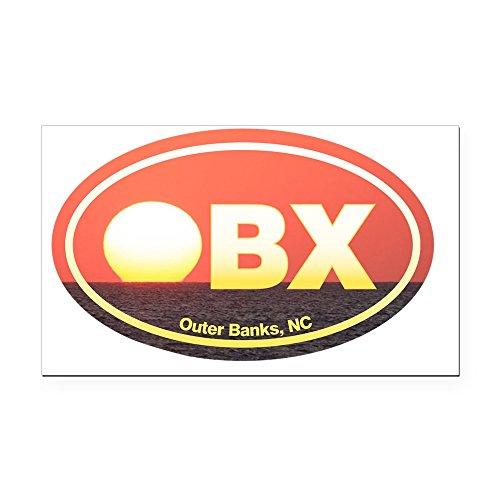 Island Rectangle Magnet (CafePress - OBX Outer Banks Sunset Rectangle Car Magnet - Rectangle Car Magnet, Magnetic Bumper Sticker)