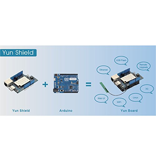 Dragino Linux, Wifi, Ethernet, USB, All-in-one Yun Shield for Arduino Leonardo, UNO, Mega2560, Duemilanove by Dragino (Image #4)