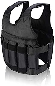 Dibiao Weighted West for Men,Adjustable Max Load 20kg Weighted Vest/Jacket Exercise Training Waistcoat