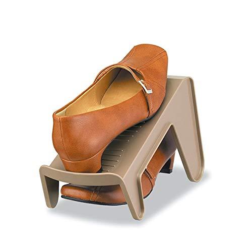 KKCD-slipper Organizador De Zapatos, Cubierta Doble del Sostenedor ...