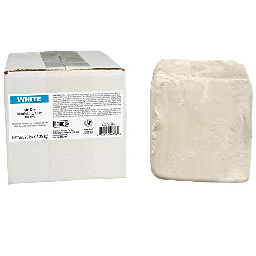 AMACO AMA46318R Air Dry Clay, White, 25 lbs.