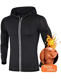 Men Trainer Shaperwear Weight Loss Sauna Jacket Gym Workout Exercise Long Sleeve