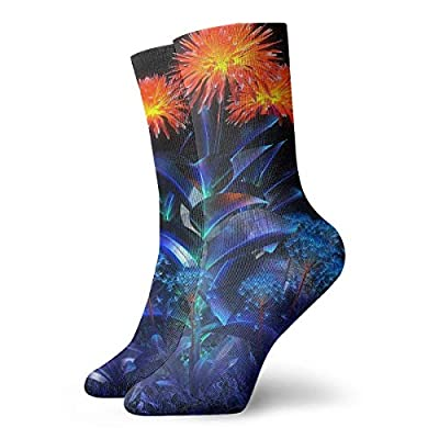 WEEDKEYCAT Cool 3D Floral Adult Short Socks Cotton Fun Socks for Mens Womens Yoga Hiking Cycling Running Soccer Sports