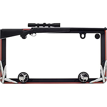 Browning Zinc Aged Nickel Finish Metal Truck Auto License Plate Frame