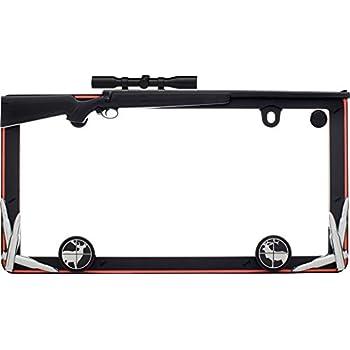 Amazon.com: 2nd Amendment Molon Labe NRA License Plate Frame Gun ...