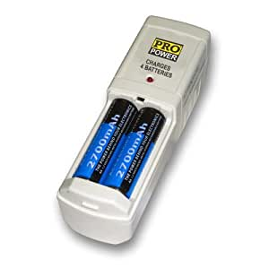 Pro Series Compact Battery Charger can charge 4 AA or 4 AAA batteries for PANASONIC Digital Camera Models DMC-LS80 DMC-LZ10 DMC-LZ8 NV-DCF7 PV-DC1000 PV-DC1080 PV-DC1580 PV-DC2090 PV-DC2590 PV-DC3000 ipalm Package includes X4 2700 mAH AA rechargeable Nimh batteries