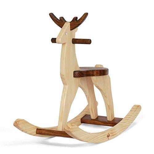 Handmade Wooden Ride On Rocking Deer Reindeer Animal Design -