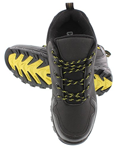 CALDEN FD033-3.6 inches Taller - height Increasing Elevator Shoes (Black Lace-up Sneakers) EWlmXqko7