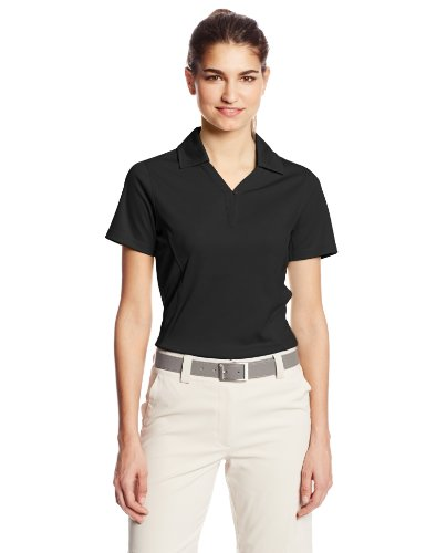 Cutter & Buck Women's Drytec Genre Short Sleeve Polo, Black, XX-Large