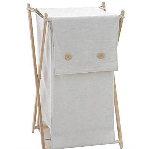 Price comparison product image Koala Baby Ecru Folding Hamper (Ecru,  Foldable)