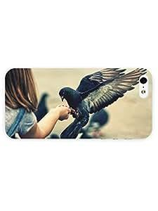 3d Full Wrap Case for iPhone 5/5s Animal Feeding Pigeons
