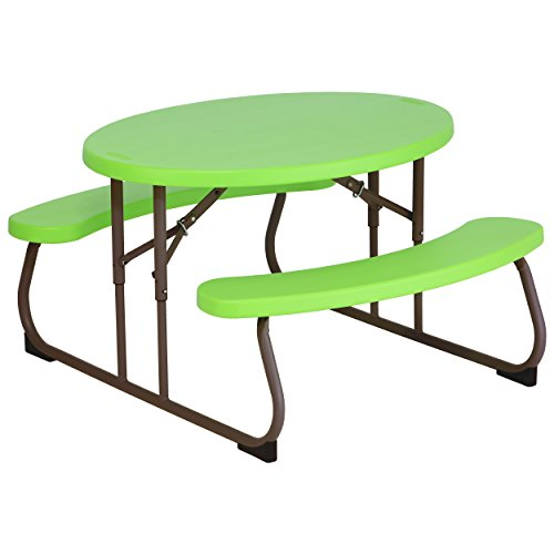 Lifetime 60132 Children's Oval Picnic Table, Lime Green - Lifetime Folding Picnic Tables