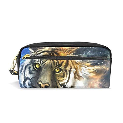 181a0858519a Pencil Pouch Tiger Galaxy Pen Case Zipit Cute School Makeup Bag Organizer  Holder