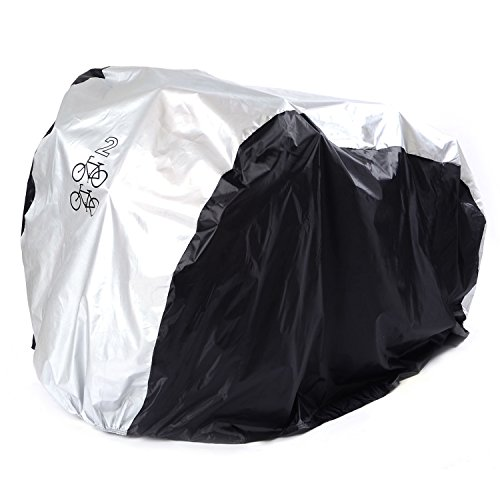 SAVFY Bike Cover for 2-Bike, 180T Outdoor Waterproof Bicycle Cover for Mountain Bike, Road (Bike Cover)