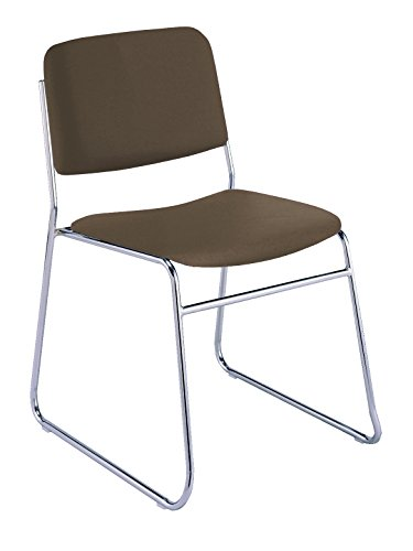 - KFI Seating 310 Armless Stacking Chair Sled Base, Commercial Grade, Brown Vinyl, Made in the USA