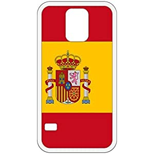 Spain Flag White Samsung Galaxy S5 Cell Phone Case - Cover