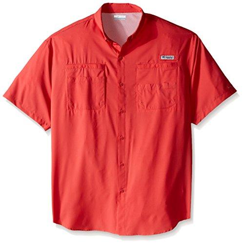 Columbia Sportswear Mens Tamiami II Short Sleeve Shirt, Sunset Red, 3X/Tall