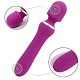 LED Portable Vibrator Travel Dawn Sensor USB Daily Rechargeable Massage Computer Wireless Packing Pouches Compact Body Dawn Sensor Massager in Bedroom, Bathroom, Home-Energy Efficient (YL-Purple)