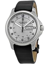 Swiss Army Officers Silver Dial SS Quartz Men's Watch 241550