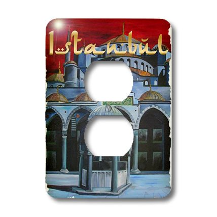 - 3dRose lsp_28172_6 Istanbul Sultan Ahmed Mosque Outlet Cover Multi-Color