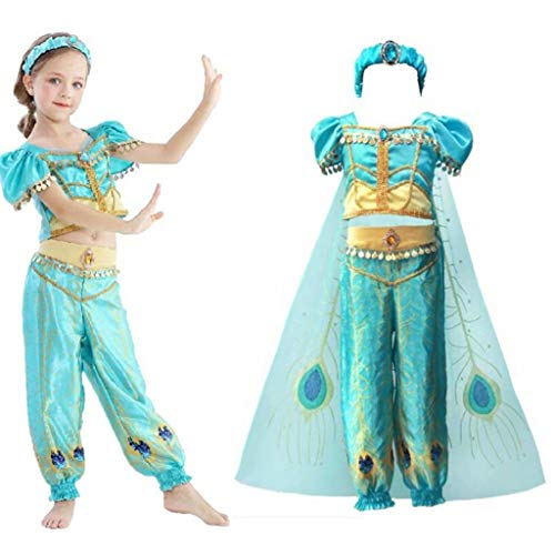 Szytypyl Jasmine Costume for Girls Arabian Princess Dress