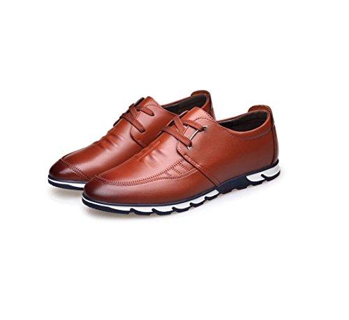 Affari Sandali Uomo Colore Stagione Nastro Casual Brown Scarpe A Tela Punta Pelle Tondo Morbido in Sportivi Stivali nInpWqwO