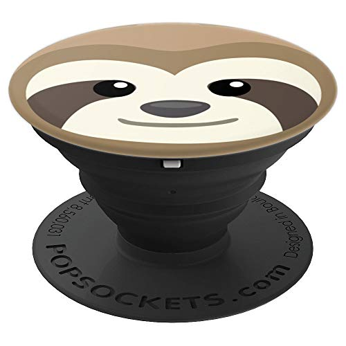 Lazy Funny Sleepy Sloth Face - PopSockets Grip and Stand for Phones and Tablets