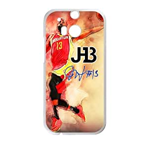HOT phone cases, Sport Series Basketball superstar james harden #13 Pattern white plastic case For HTC One M8 at Run horse store
