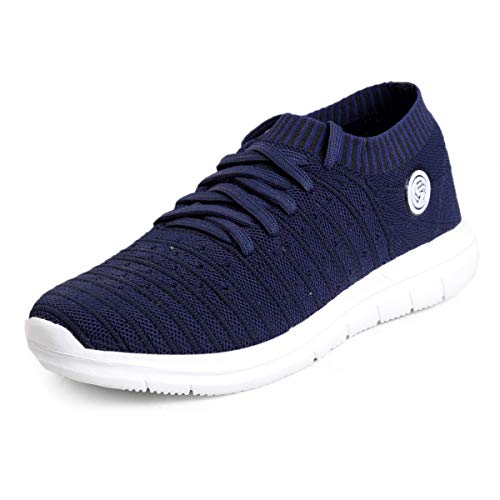 41Ny3ildUyL. SS500  - Bacca Bucci® Athleisure Series Running Sneakers Shoes Men Slip-On Fly Knitted Lightweight Casual Shoes for Fitness Gym Tennis Training Jogging Trekking Driving Power Yoga Sport Shoes