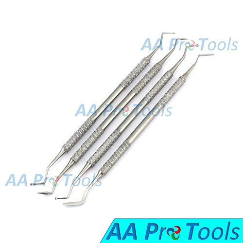 AA PRO DENTAL COMPOSITE FILLING INSTRUMENT COMPOSITE CARVERS SET OF 4 DOUBLE ENDED A+ QUALITY