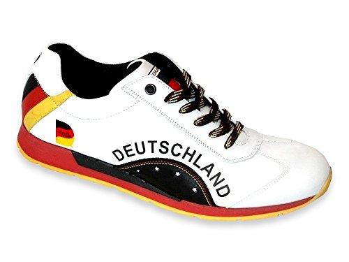Champion Du Monde Baskets Fan De Sports Allemagne Hommes Chaussures Sport En Cuir