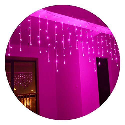 Pink Led Icicle Lights