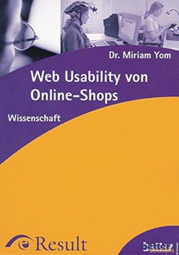 Web Usability von Online-Shops (Wissenschaft)