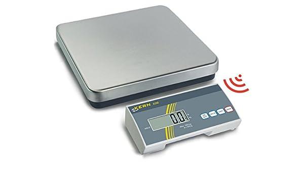 Balanza de plataforma inalámbrica para máxima flexibilidad (Kern EOB60K-2F), precisión hasta 20 g, rango de pesaje máx. 60 kg: Amazon.es: Industria, ...