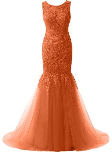Meerjungfrau Abiballkleider La Langes Spitze Neu 2018 mia Orange Ballkleider Pfirsisch Braut Still Abendkleider Promkleider nzp1qBn