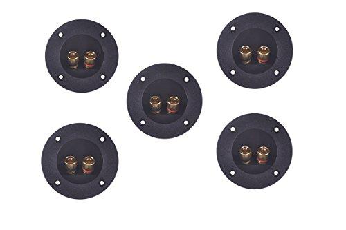 5 Pcs 2-Way Speaker Box Terminal Cup Screw Cup Subwoofer Plugs Connectors DIY Home Car Speaker Binding Post