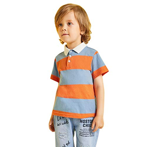 Toddler Baby Boy Kid Short Sleeve Striped Gentleman Tops T-Shirt Clothes
