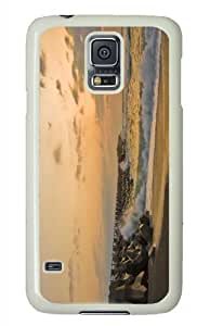 Customized Samsung Galaxy S5 White Edge PC Phone Cases - Personalized Beach Nature 34 Cover