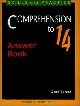 Comprehension to 14: Answer Book by Geoff Barton (1997-05-01)