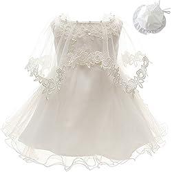 3Pcs Set Baby Girl Dress Christening Baptism Gowns Formal Dress (6M/6-12months)