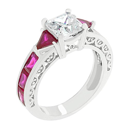Contemporary Trillion Ring (J Goodin Ruby Regal Ring Size 8)