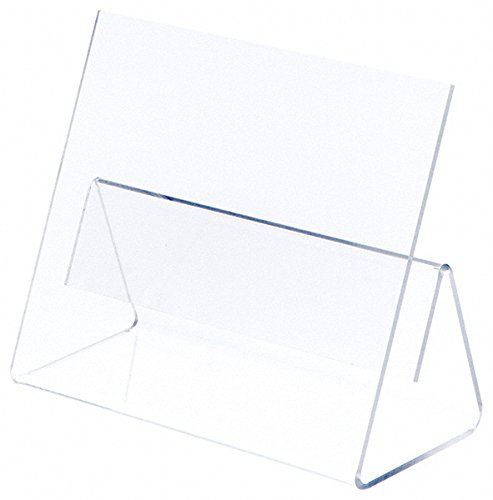 Plymor Brand Clear Acrylic Cookbook Easel with Splatter Shield, 9.75 W x 4.375 D x 7.75 H