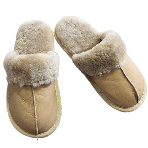 Qmfur Women's Sole Collar Shoes Skid Outdoor Light Khaki Indoor House Fur with amp; Soft Anti Slippers THr1XTW4
